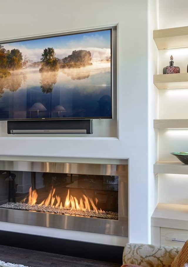 Modern TV & Audio, Mount a TV above your fireplace